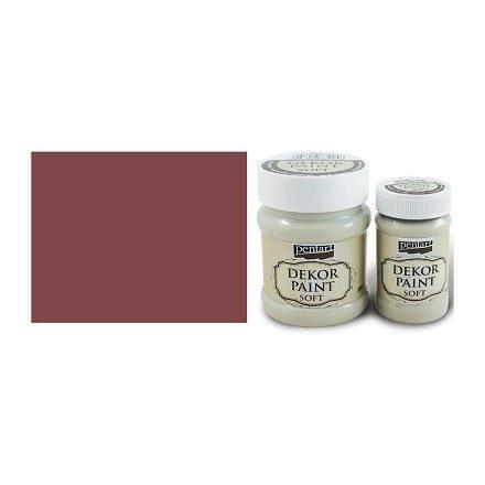 Pentart Dekor Paint Soft - Burgundi vörös -  230ml