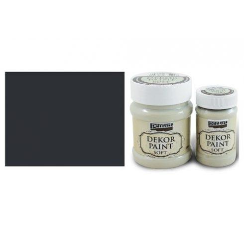 Pentart Dekor Paint Soft - Fekete -  230ml