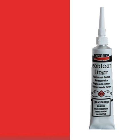 Kontúrozó festék alapszín-piros