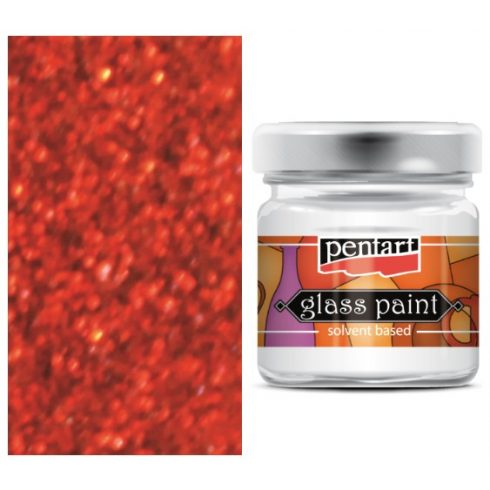 Pentart-oldoszeres-uvegfestek-csillogo-piros