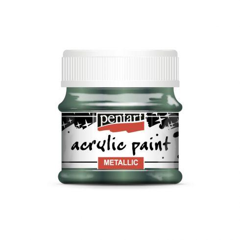 metál akrilfesték borostyánzöld