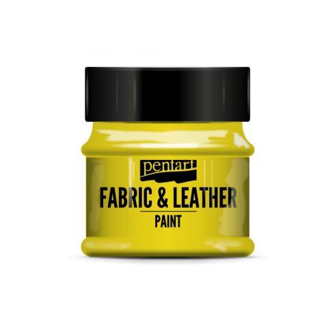 Pentart textil és bőrfesték - sárga
