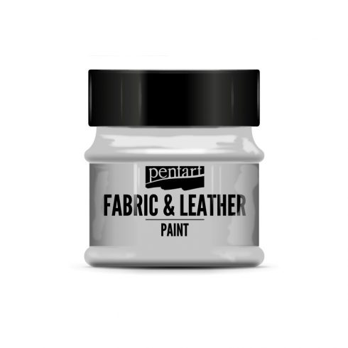 Pentart textil és bőrfesték - ezüst