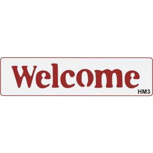 Feliratos sablon 197x50mm - Welcome