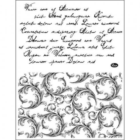 Pecsételő 14x18cm - Írás és kacskaringó