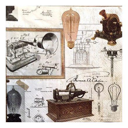 Textúrás szalvéta -  Edison