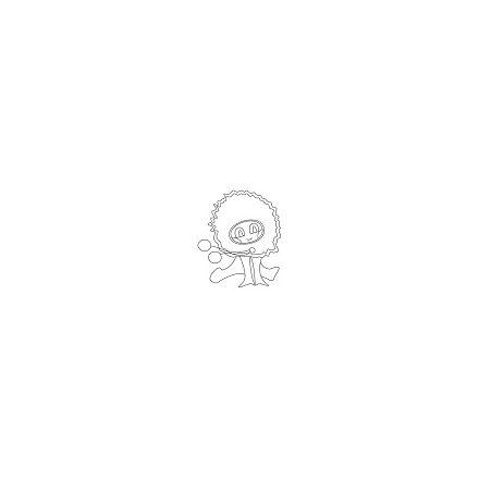 Dekorációs madártoll - narancs