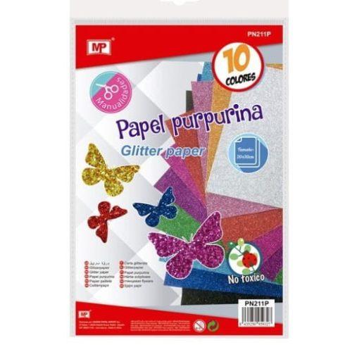 Glitterpapír csomag  - 10db