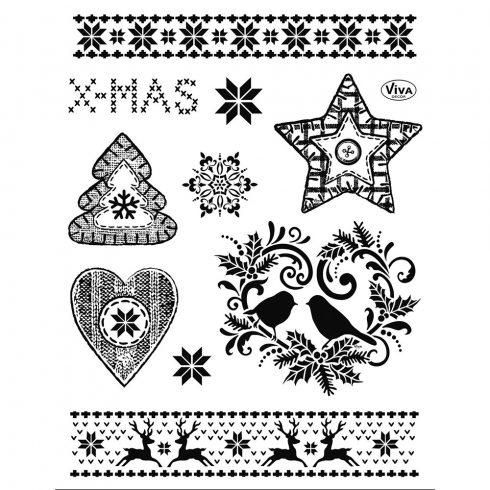 Szilikon pecsételő 14x18cm - Karácsonyi motívumok