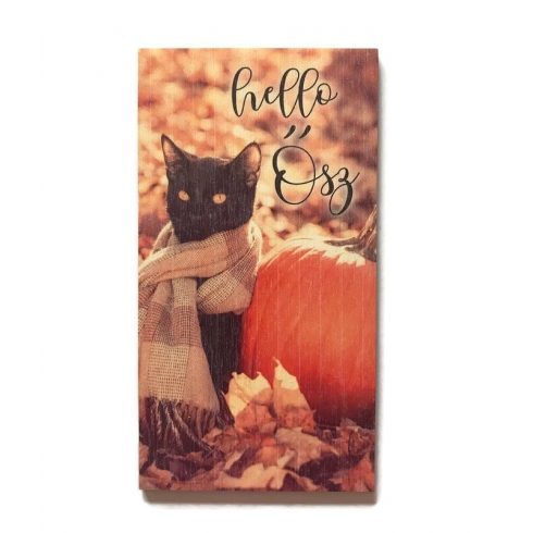 Fa tábla - Fekete macska