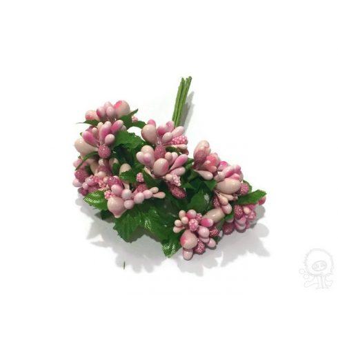 Rózsaszín bogyós pick