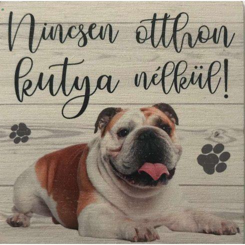 Fa tábla -  Angol bulldog