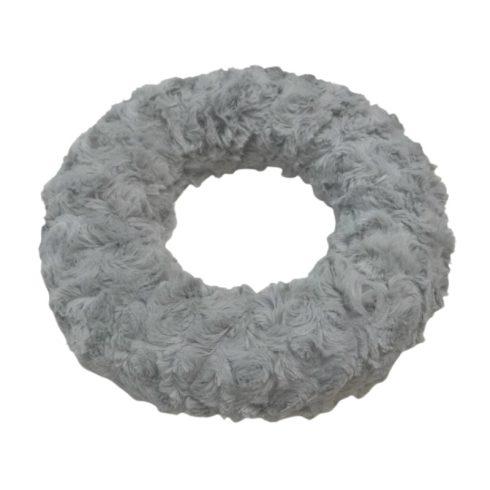 Szőrmés adventi  koszorú - krém - 20cm