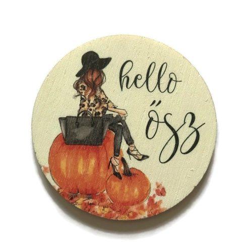 Fa tábla - Hello ősz csajosan