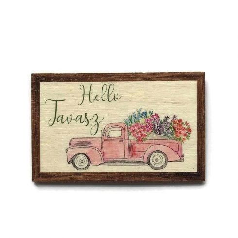 Fa figura - Hello tavasz teherautóval