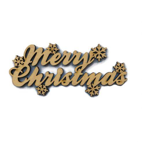Fa felirat - Merry Christmas hópelyhekkel