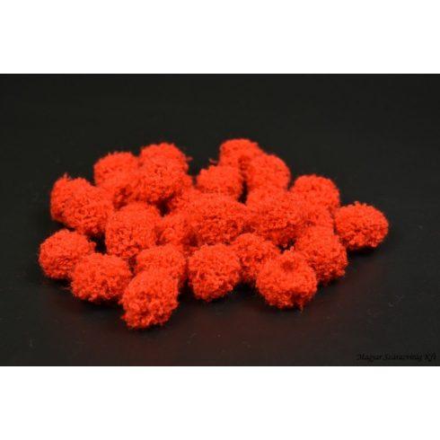 Pompom -bolyhos - piros - 20mm