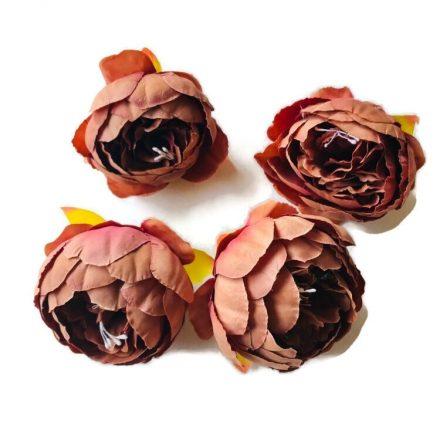 Művirág - nagy rozsdaszín virágfej - 4 fej