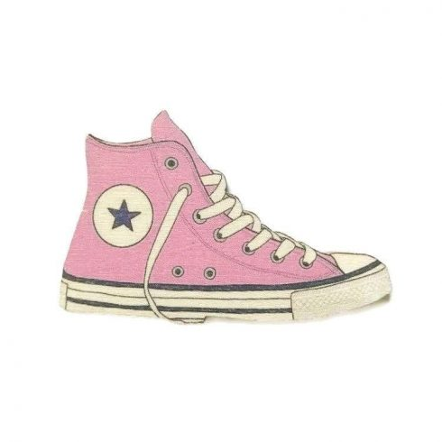 Fa tábla - Converse - rózsaszín