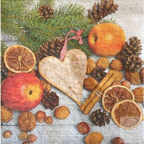 Szalvéta normál méretű (33X33cm) -  Karácsonyi illat