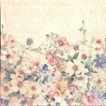 Virágos szalvéta