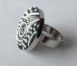 FIMO gyurma gyűrű