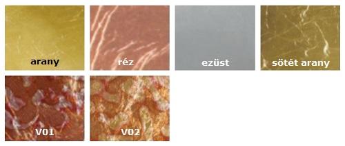 füstfólia lapok színminta